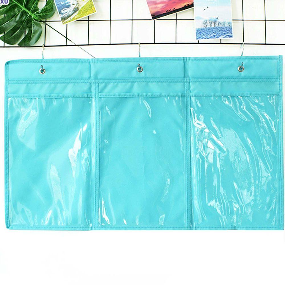 牛津布美術文件通告掛袋-A4豎款三格-藍色 (70*43cm)