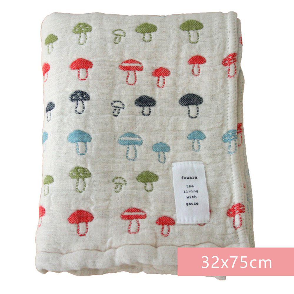 日本 Fuwara - 日本製三河木棉六重紗毛巾-彩色蘑菇 (32x75cm)