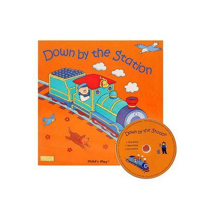 有聲書-DOWN BY STATION /平裝繪本+CD