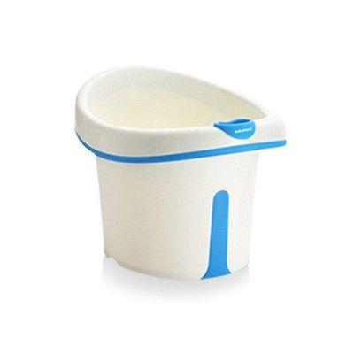 維尼幼兒坐式泡澡桶-藍-附浴凳 趣味小水勺