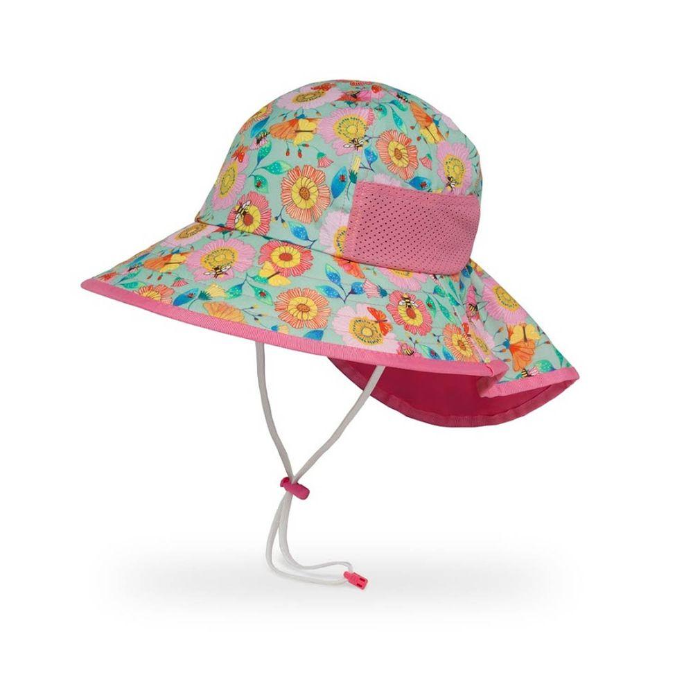 Sunday Afternoons - 兒童防曬帽-兒童抗UV防潑透氣護頸帽Kids Play Hat-蜂蝶爭艷