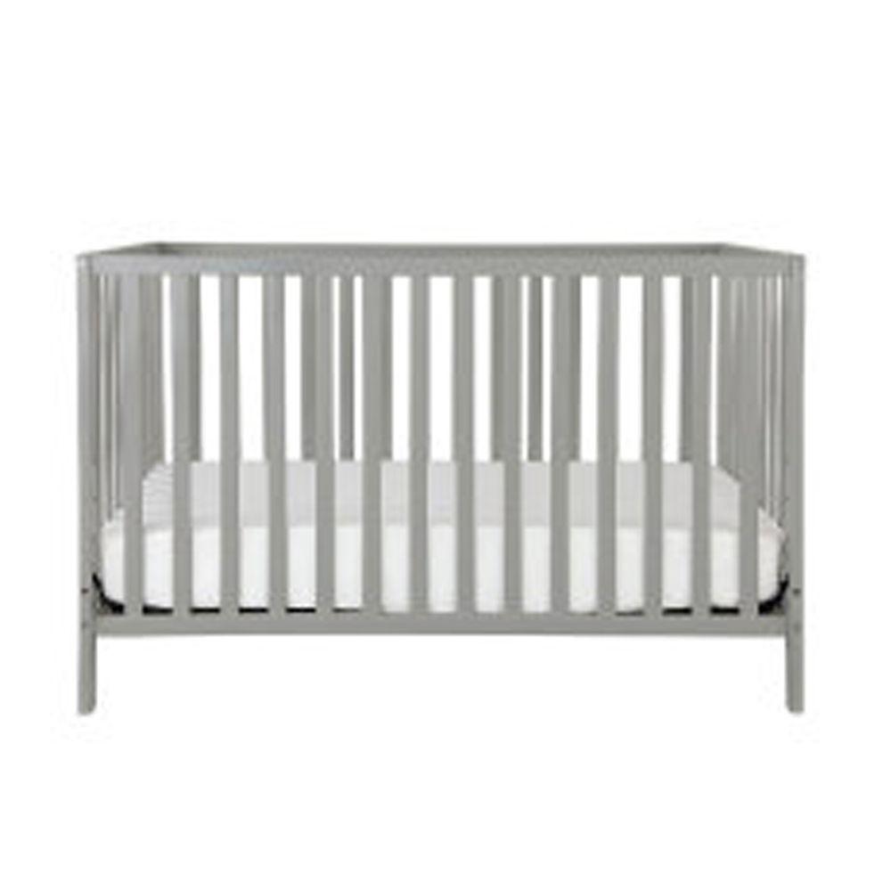 Rockland - 喬依思4合1環保漆實木嬰兒床-贈床墊 護欄-灰-70x130cm