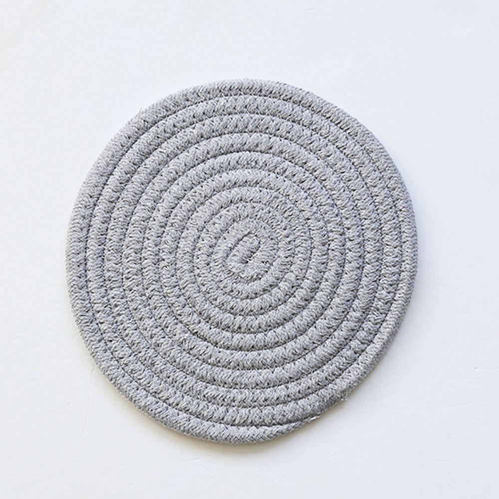日系感編織隔熱墊-淺灰色