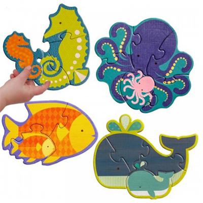 初階拼圖-海洋生物-3、4、5及6片