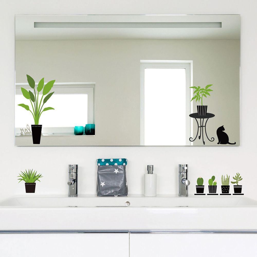 日本 TOKYO STICKER - 日本製 質感無邊框壁貼 [精緻轉印款]-綠意植栽 (A4)