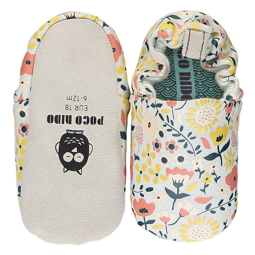 英國 Poconido - 寶寶手工鞋/學步鞋-英倫花香