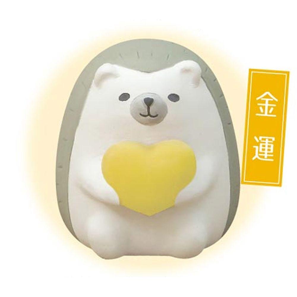 日本 DECOLE - 療癒精油陶土擴香石小公仔擺飾-風水運勢款-金運 (約5X5X5.5cm)