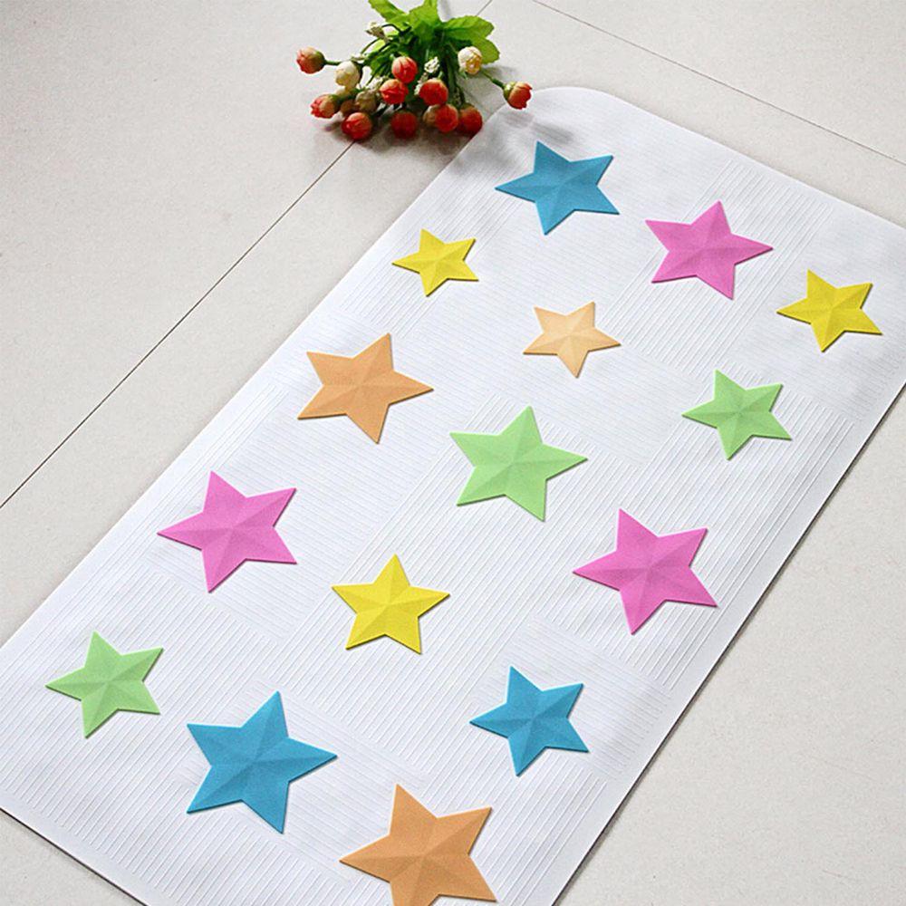 vanibaby - 浴室防滑墊/浴盆止滑墊 (立體圖案超強吸力)-粉彩星星
