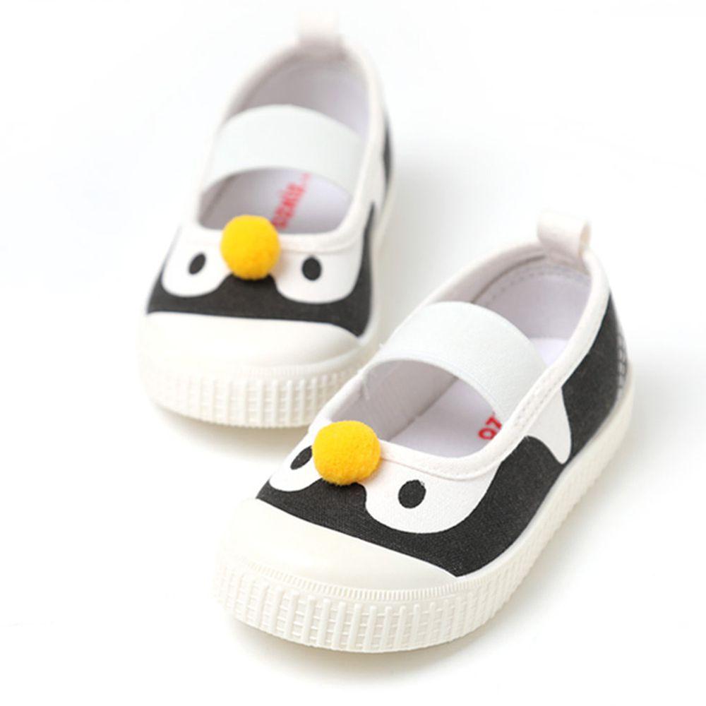 韓國 OZKIZ - (剩13,14cm)純棉塗鴉兒童休閒鞋/室內鞋-企鵝