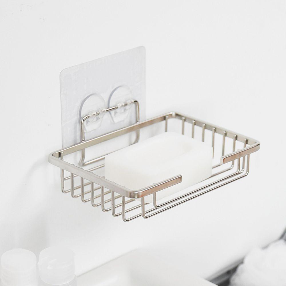 完美主義 Peachy Life - 台灣製304不鏽鋼肥皂盒-SquareFix霧面無膠痕