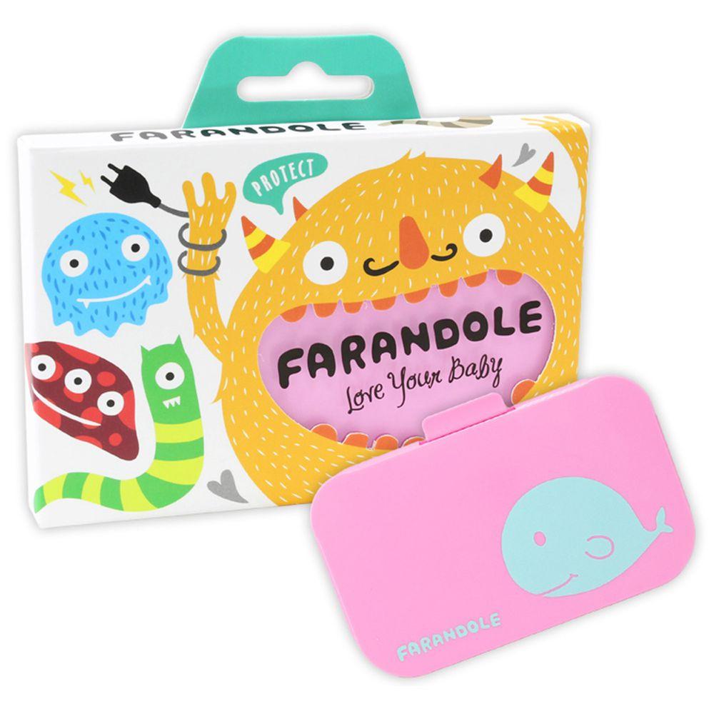 FARANDOLE 法紅荳 - 插座 & 開關安全防護蓋-可愛鯨魚款-粉紅