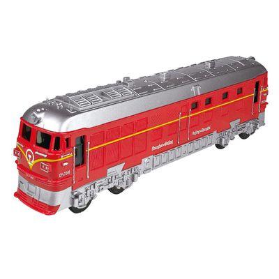 小小鐵道迷-磨輪聲光復古小火車-紅色