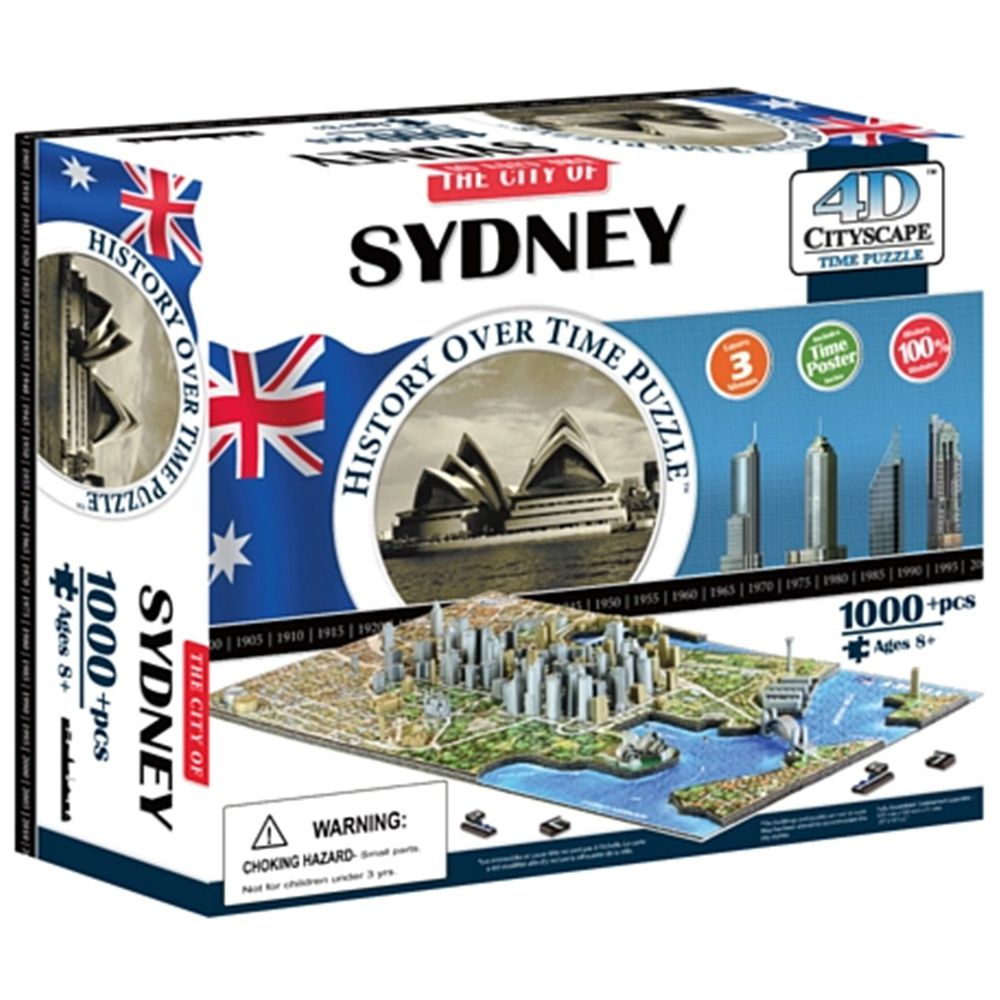 4D Cityscape - 4D-城市拼圖-雪梨-1000片