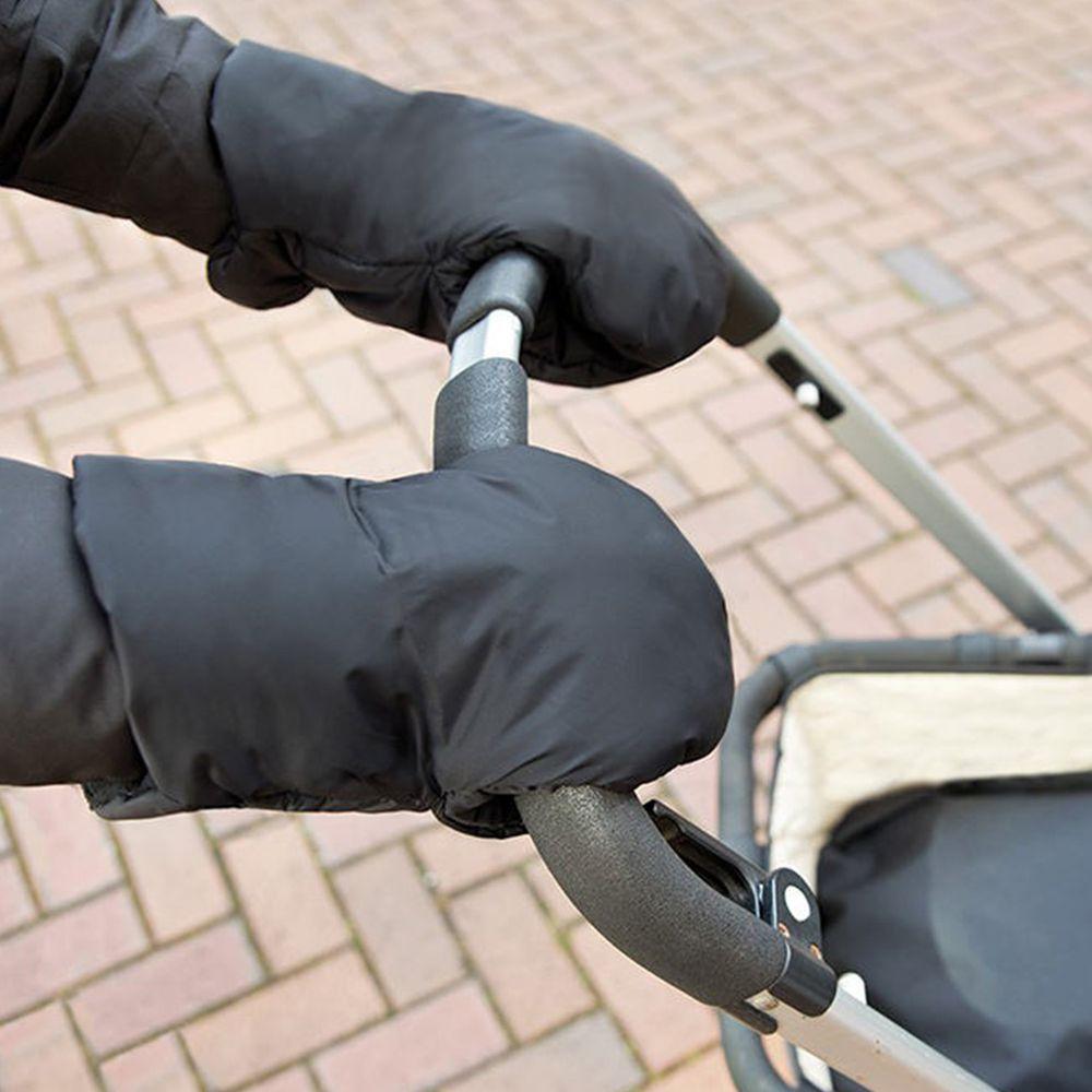 英國 JoJo Maman BeBe - 嬰幼兒推車專用防風保暖連指手套-黑色