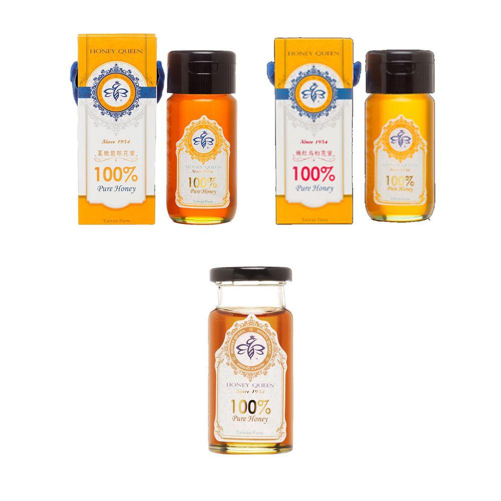 蜂蜜皇后Honey Queen - 【小資回饋組合】嫣紅烏桕花蜜700g+夏緻龍眼花蜜700g+夏緻龍眼花蜜180g