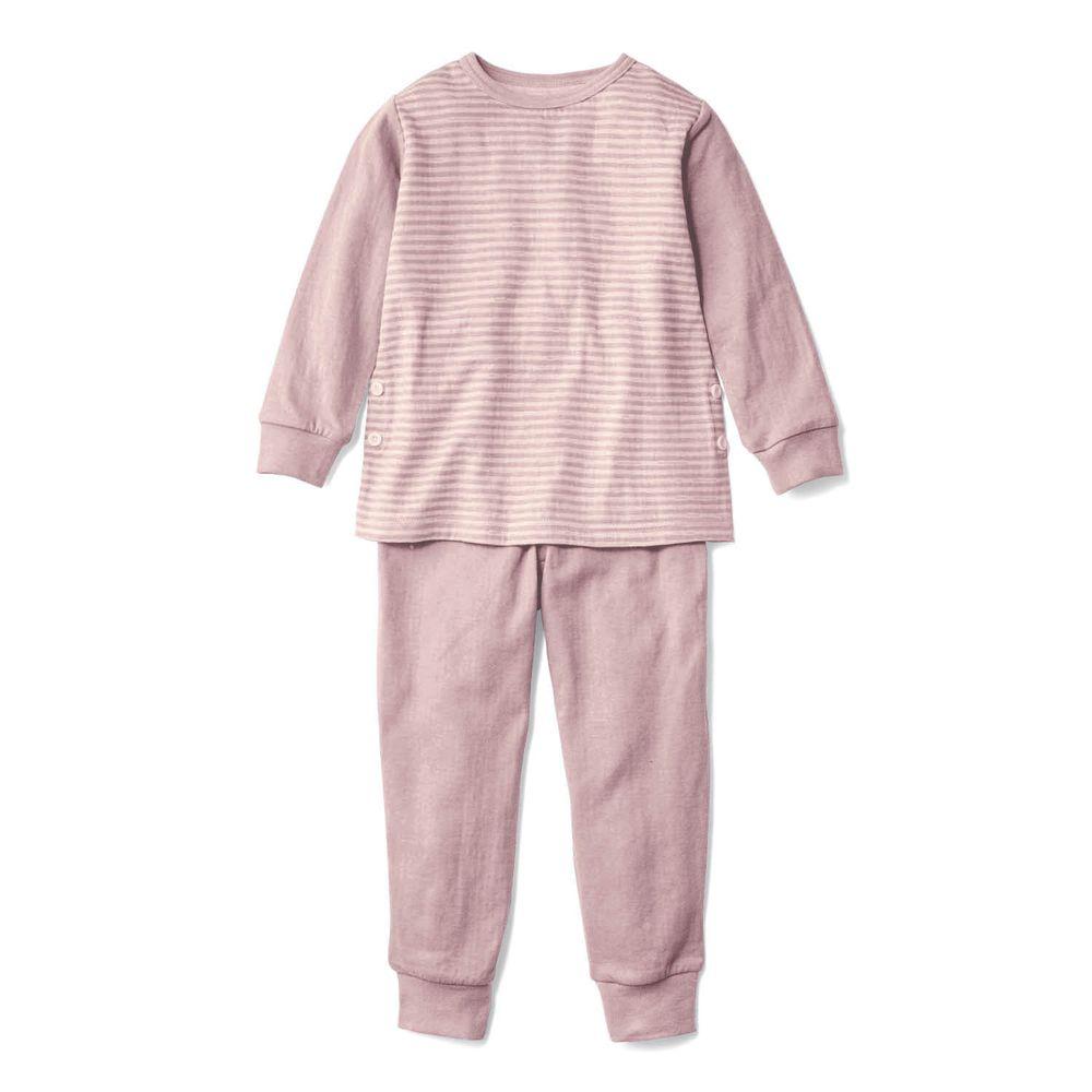 日本千趣會 - 100%純棉 (兒童)發熱家居服/睡衣(背部加厚)-紫羅蘭