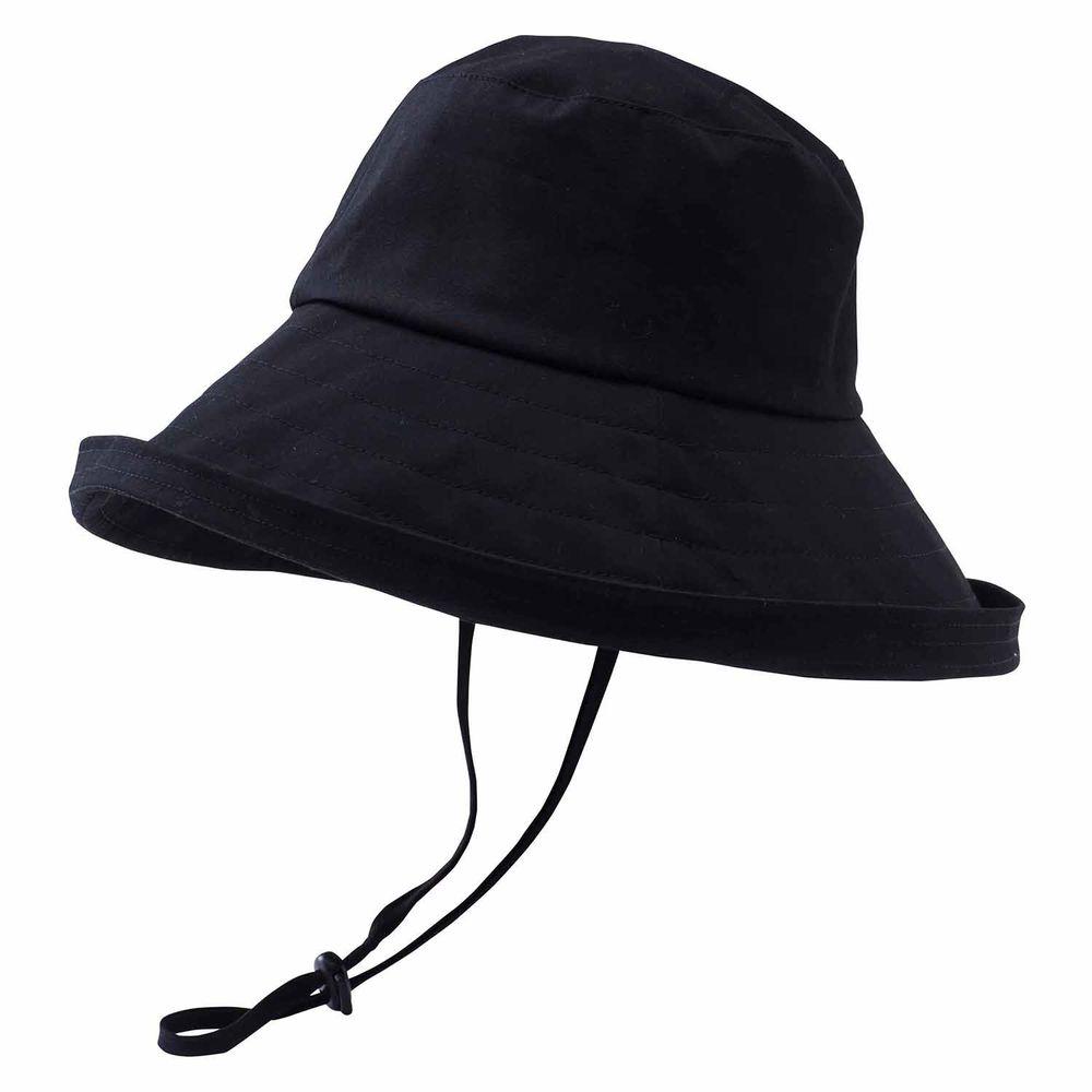 日本小泉 - UV cut 99% 涼感 大帽簷遮陽帽-防潑水-黑 (可調頭圍~58cm)