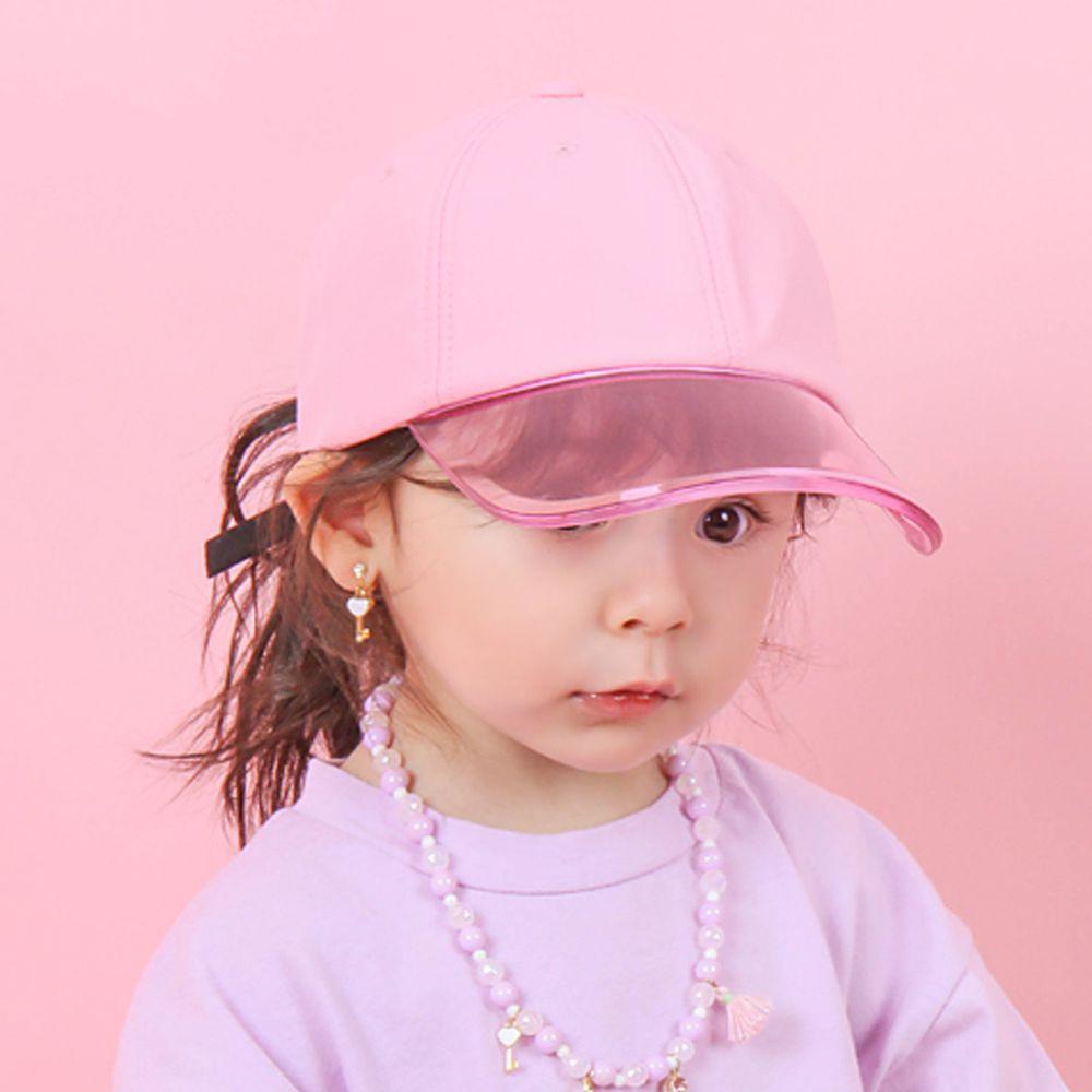韓國 Babyblee - 抗UV遮陽板棒球帽-櫻花粉 (頭圍:50-54cm)