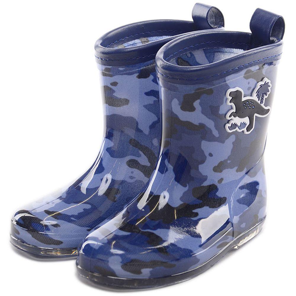 akachan honpo - 雨鞋-恐龍-藍色