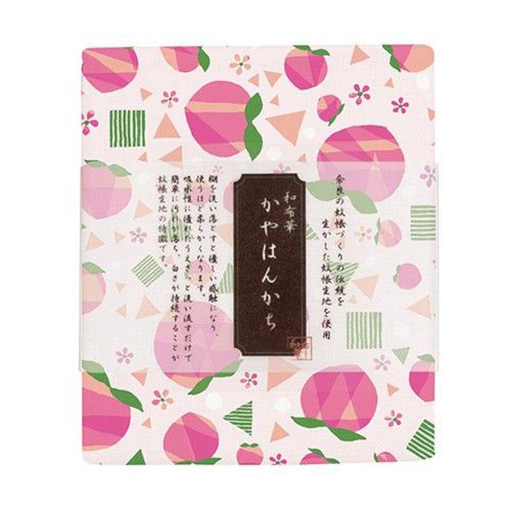 日本代購 - 【和布華】日本製奈良五重紗手帕-蜜桃 (30x26cm)