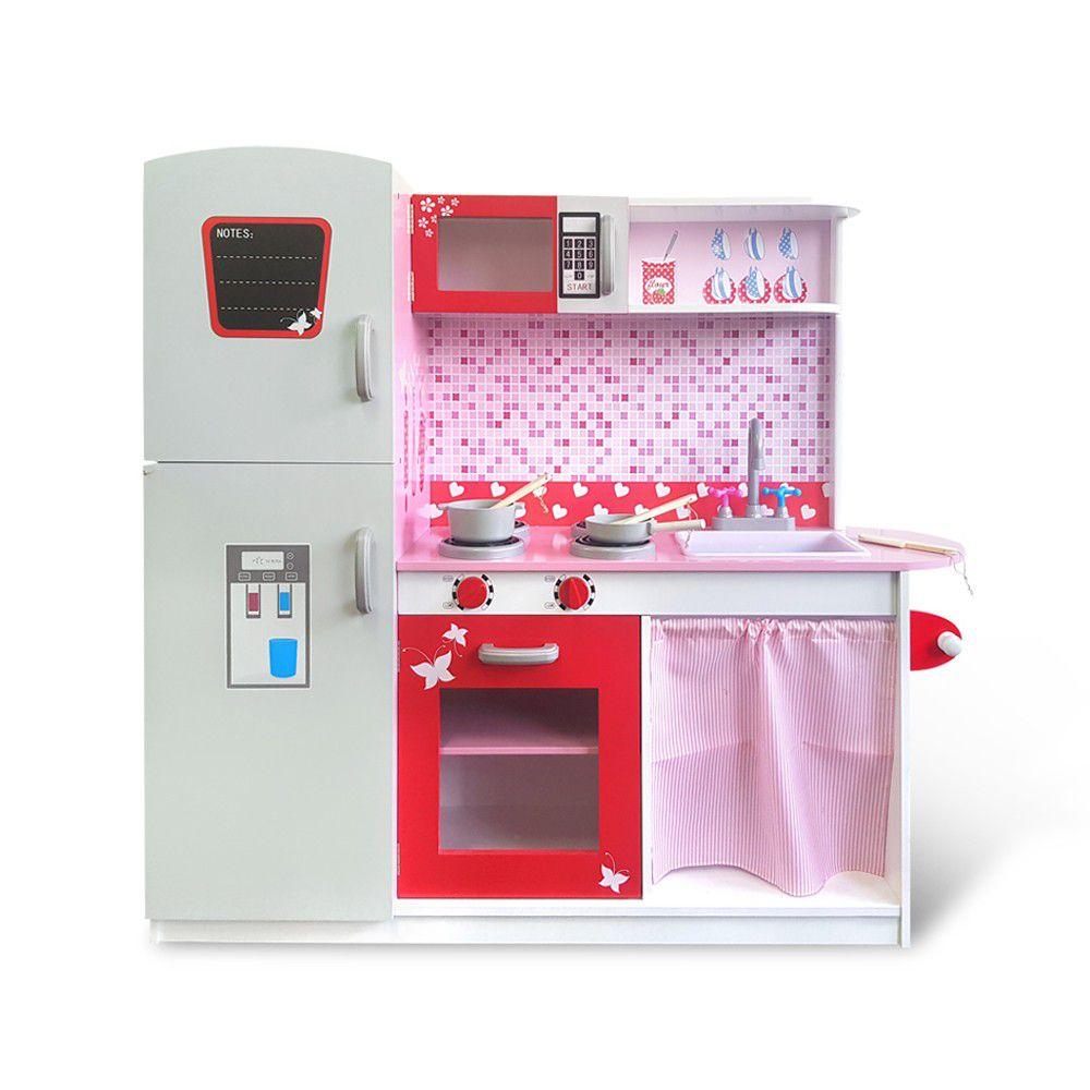 Kikimmy - 蜜糖時光木製廚房玩具組-112.3x31x102cm