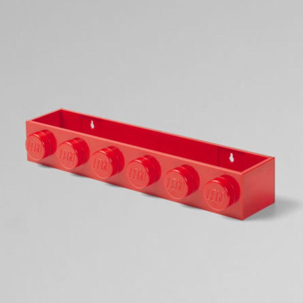 丹麥 Room Copenhagen - 丹麥LEGO 樂高造型書架-經典紅 (47.8 x 7.8 x 11.5 cm)
