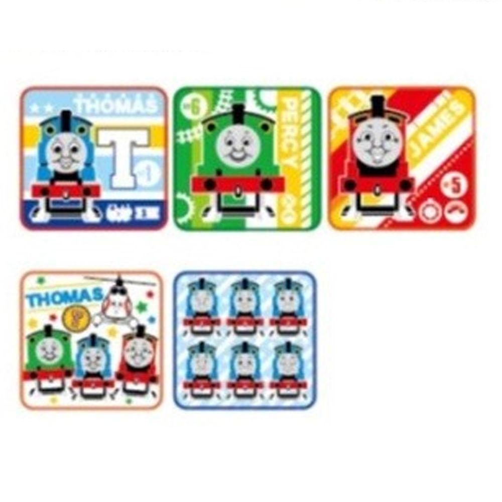 日本代購 - 卡通方形小手帕五件組-湯瑪士小火車 (15x15cm)
