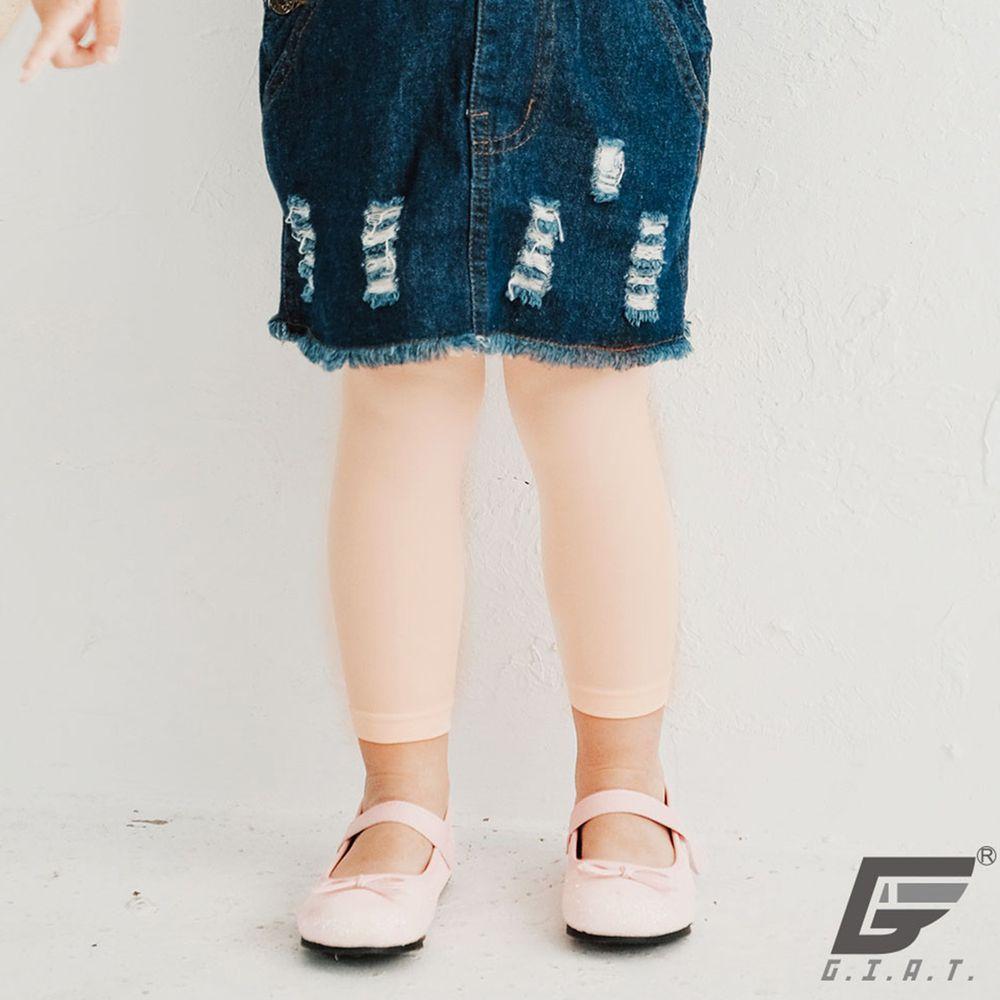 GIAT - 防蚊抗走光親膚彈性童褲襪-九分款-芭蕾桔