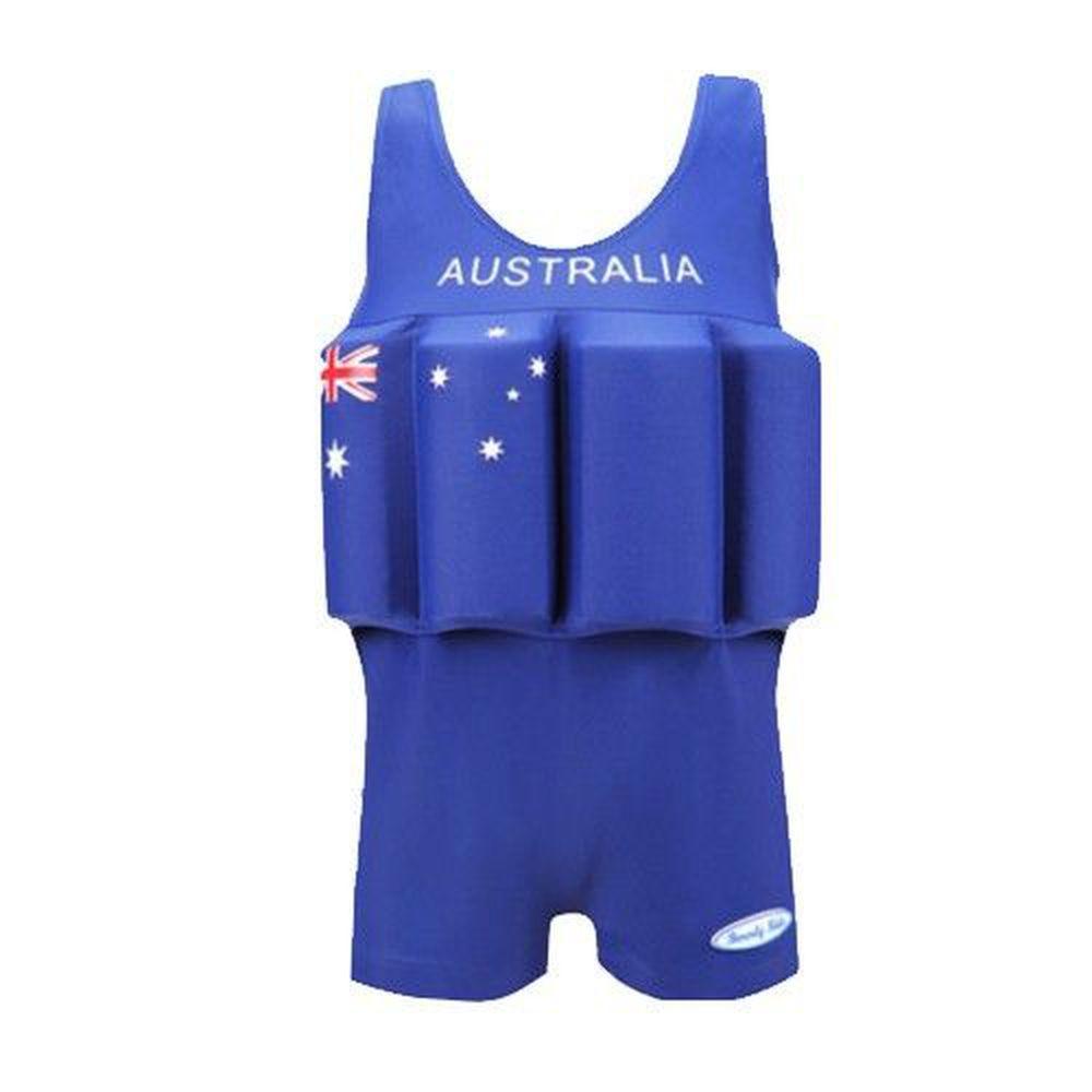 德國 BeverlyKids - 浮力泳衣-四角褲版-Australia 澳洲國旗