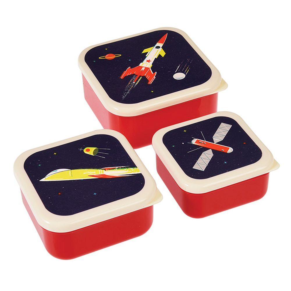 英國 Rex London - 餐盒/零食盒3入組-太空梭
