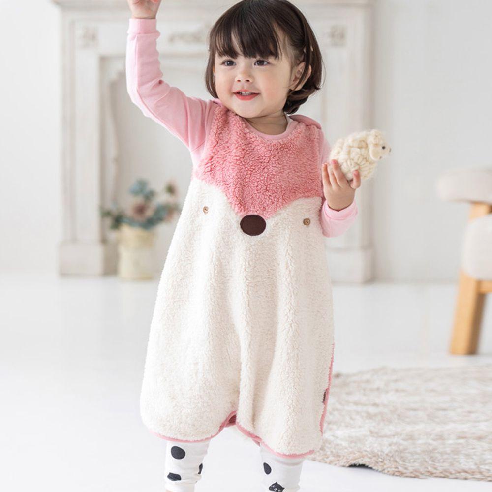 韓國 Cordi-i - 絨毛保暖防踢被-粉紅松鼠