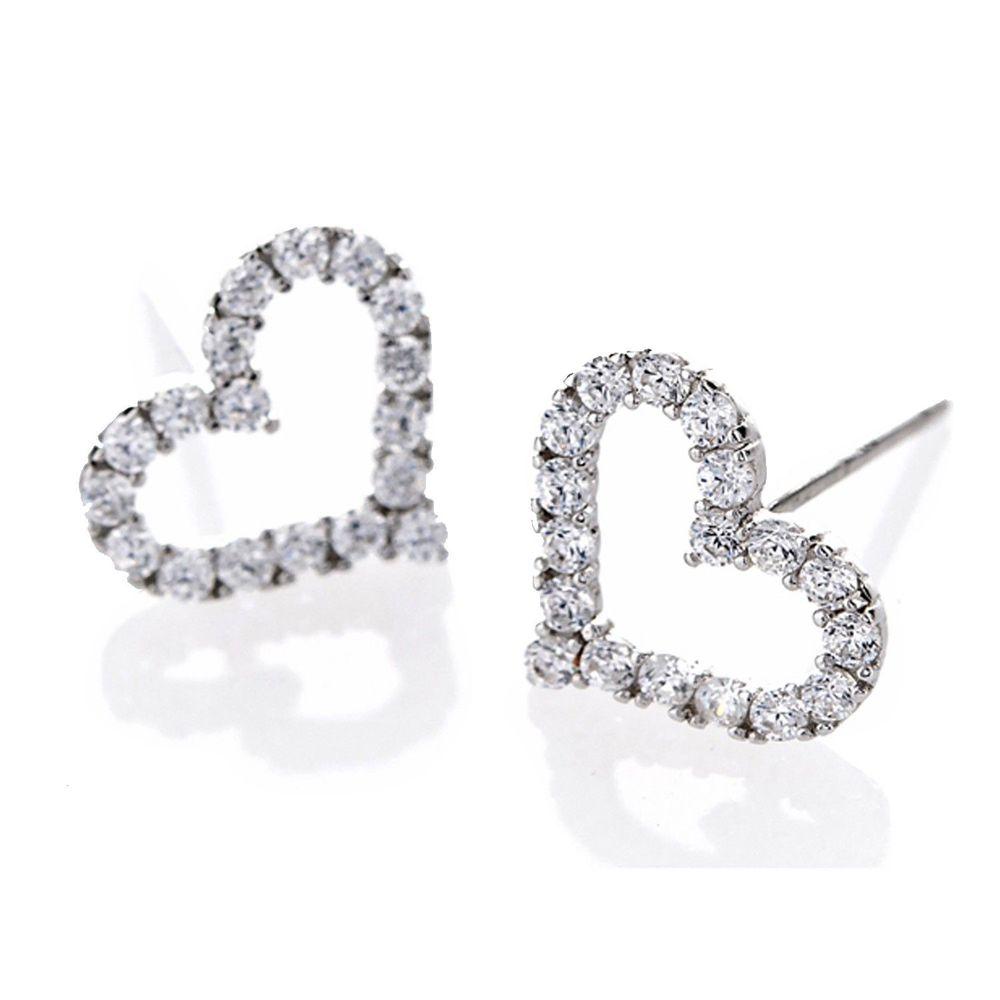美國ILG鑽飾 - Greetings 心的問候 簡單純淨 -頂級美國ILG鑽飾,媲美真鑽亮度的鑽飾-加贈高級珠寶級絨布盒1個-s925純銀外層電鍍頂級白K金