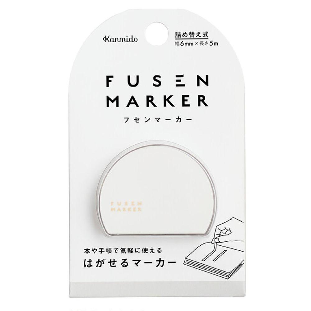 日本文具 Kanmido - 重複黏貼 螢光標記立可帶-灰