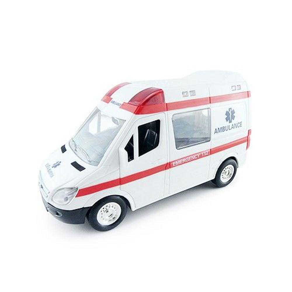 小小家 - 工程小車車-聲光磨輪救護車