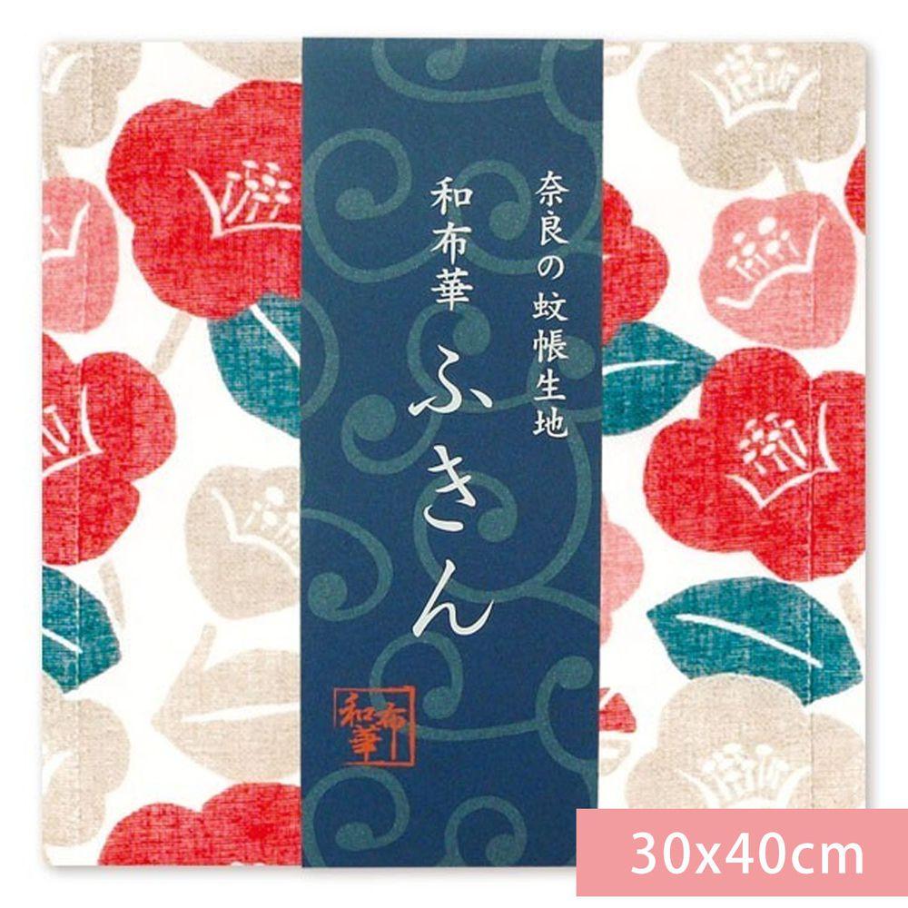 日本代購 - 【和布華】日本製奈良五重紗 方巾-椿之華 (30x40cm)
