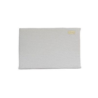 有機棉嬰兒乳膠平枕-經典條紋系列-寧靜灰 (44x30x2.5cm)-3個月起