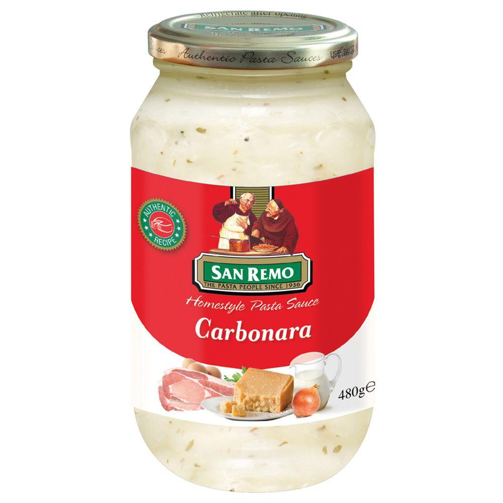 Sanremo - 聖雷蒙頂級麵醬-奶油白醬-480g