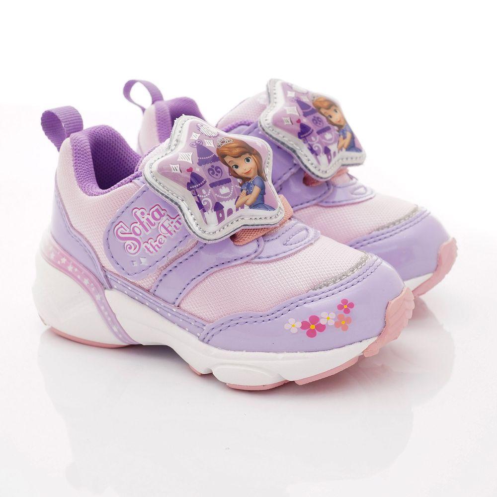 Moonstar日本月星 - 迪士尼蘇菲亞聯名電燈鞋款(中小童段)-紫