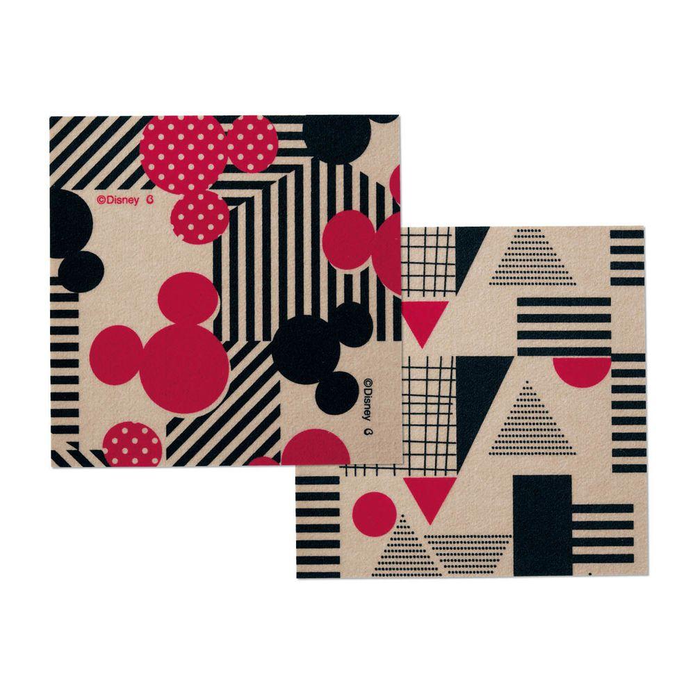 日本千趣會 - 迪士尼 日本製室內輕薄地毯(可機洗)-米奇 (30x30cm)-各色2枚(共6枚)