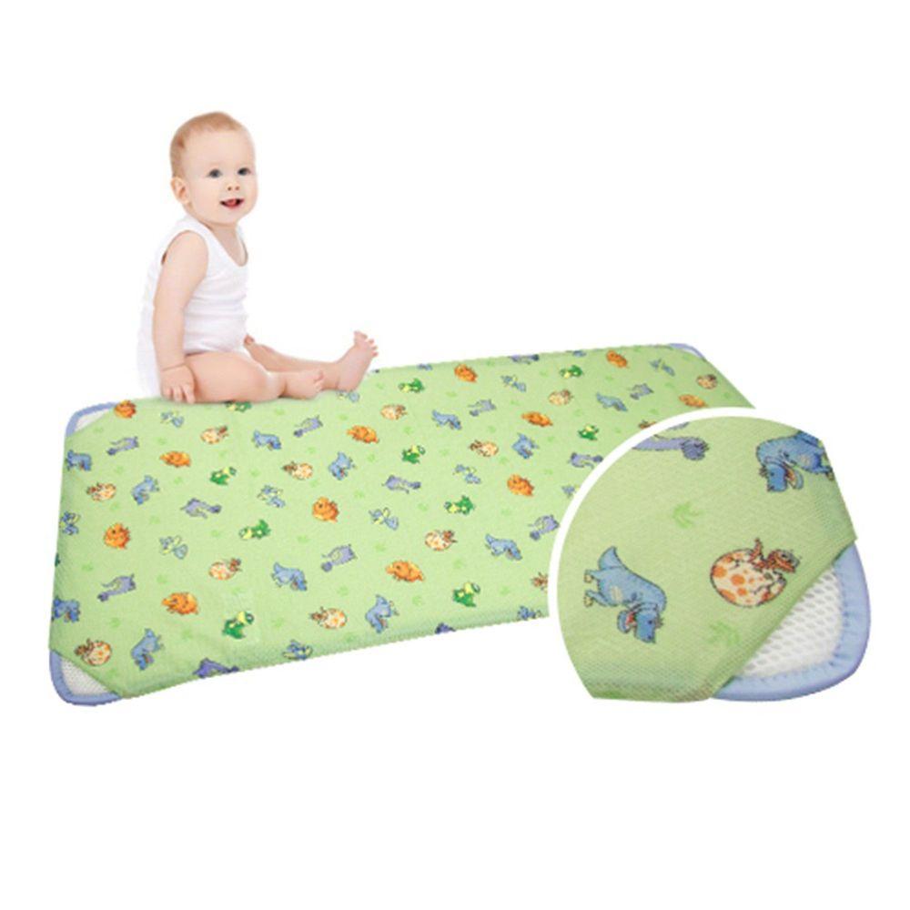 韓國 GIO Pillow - 智慧二合一有機棉超透氣排汗嬰兒床墊-恐龍寶貝 (M號)