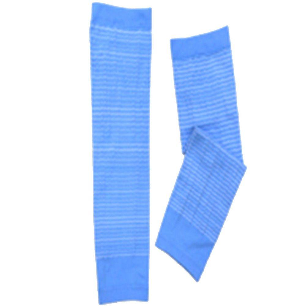 貝柔 Peilou - 兒童高效涼感防蚊抗UV袖套-親子條紋-藍