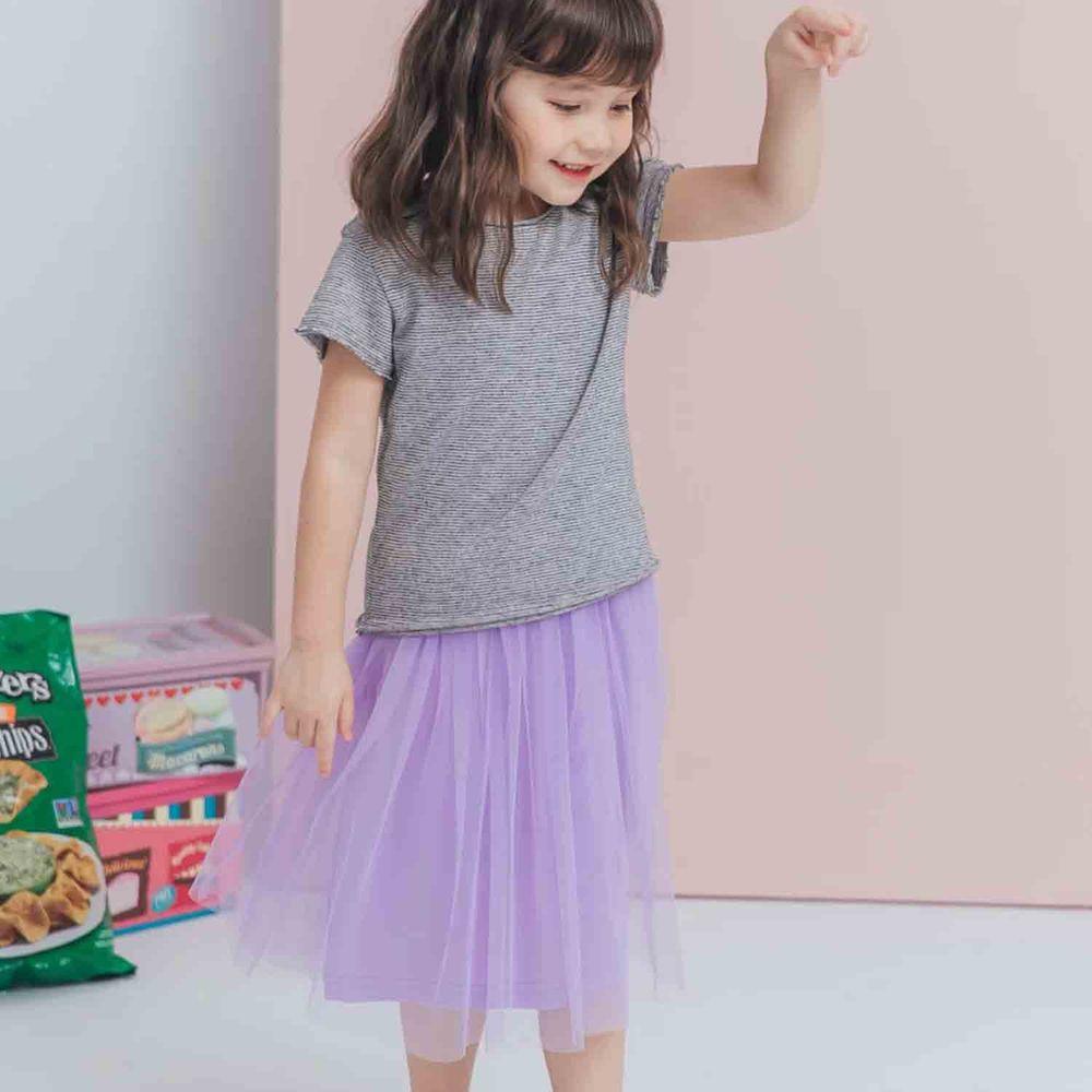Peachy - 北鼻款*獨家訂製綿柔連身紗裙-細肩帶連身款-薰衣草紫