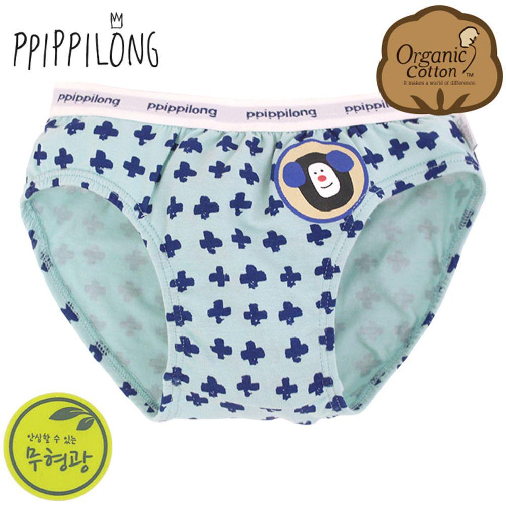 韓國 Ppippilong - 有機棉透氣三角褲(男寶)-十字猴子