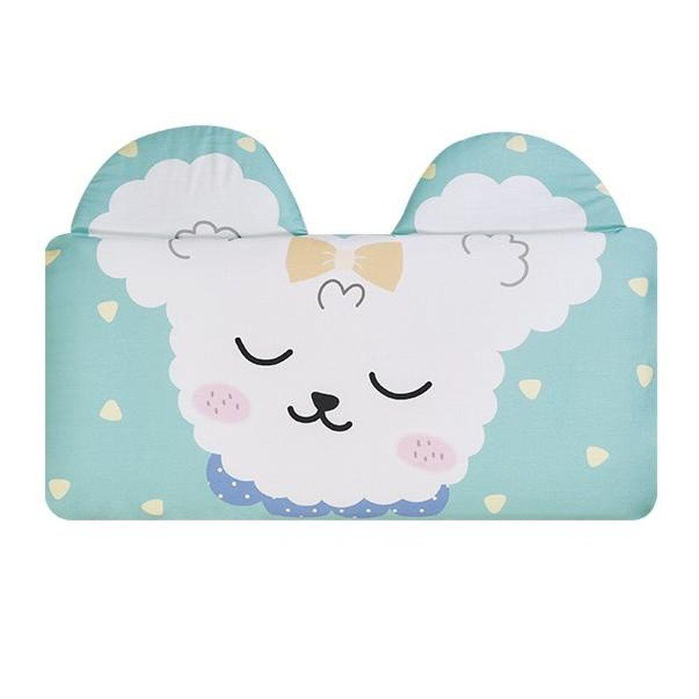 韓國 Bonitabebe - 3D Air Mesh 三段式可調高兒童涼枕-布丁狗 (59*29cm)-3D Air Mesh填充枕3個+枕頭套1個