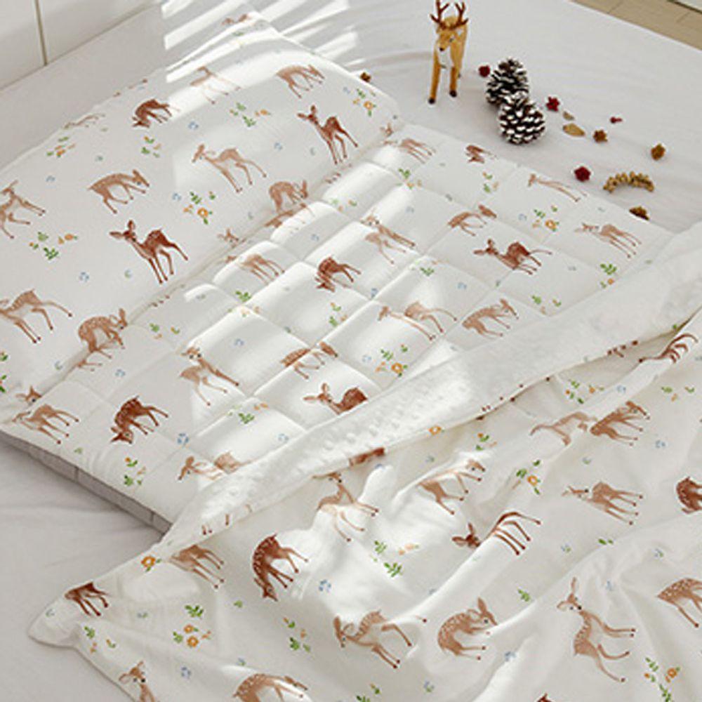 韓國 Formongde - 5cm厚墊雙面用睡袋/寢具(附收納袋)-小鹿斑比
