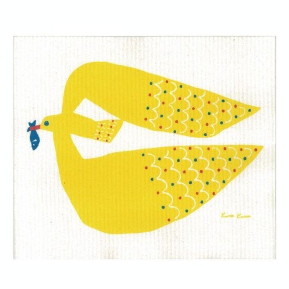 日本代購 - 德國製 北歐風環保高吸水海綿抹布/吸水巾-kata kata 海鷗 (30.4x25.7cm)