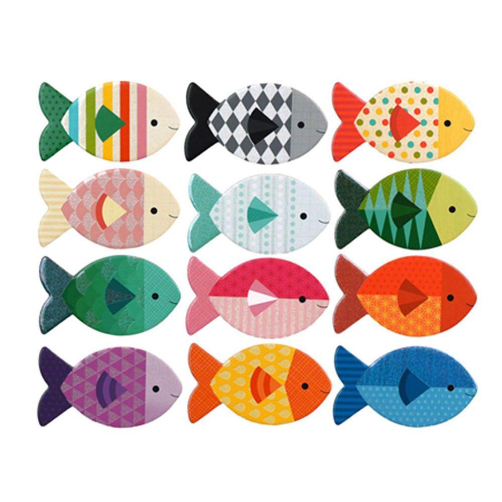 美國 Petit Collage - 記憶遊戲-悠游小魚