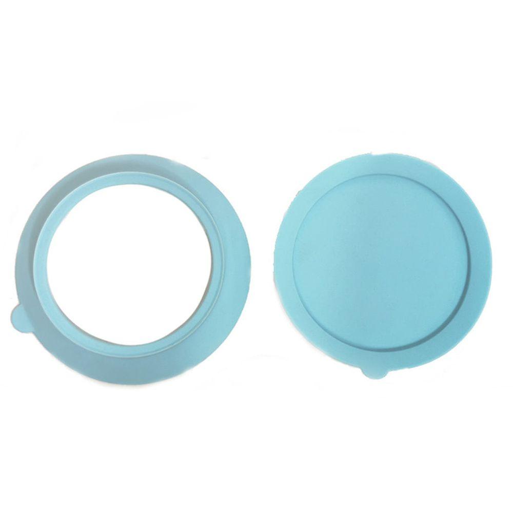 美國little.b - 不鏽鋼吸盤碗配件組-寶貝藍-上蓋*1+吸盤*1