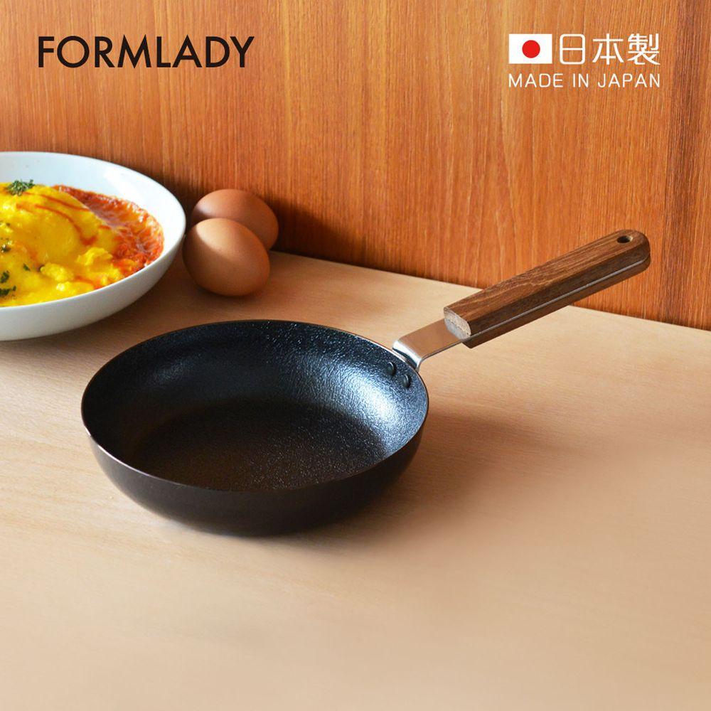 日本 FORMLADY - 小泉誠 ambai 日製原木柄平底鐵鍋-18cm