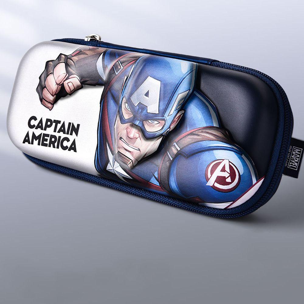 防水3D立體大容量鉛筆盒-卡通人物美國隊長 (橫版)